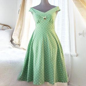 Blutgeschwister🍒 Mint polka dot Pin Up dress